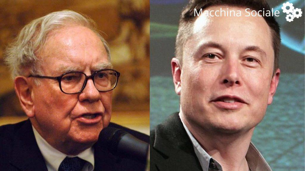 Elon Musk ora è più ricco di Warren Buffet